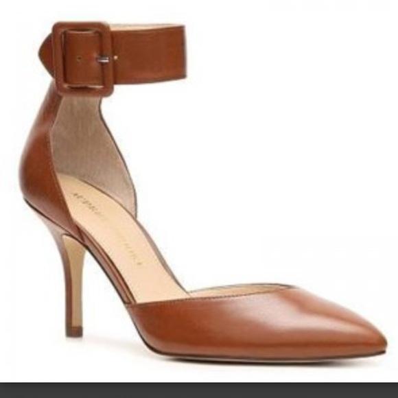 ec44f2bda5a Audrey Brooke Shoes - Audrey Brooke Ankle Strap Brown Cognac Heels